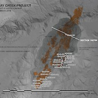 Eskay Creek Project - Drill Hole Location Map