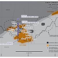 Eskay Creek Project - 21C and 21B Zones, Section 10270N