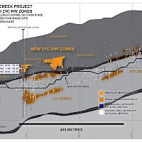 Eskay Creek Project - 21C and 21C-HW Zones, Section 9740E